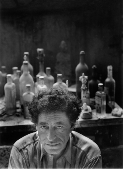 367948 01: ***EXCLUSIVE*** Portrait of Alberto Giacometti, Swiss surrealist sculptor, May 12, 1954, in Paris, France. (Photo by Arnold Newman/Getty Images)