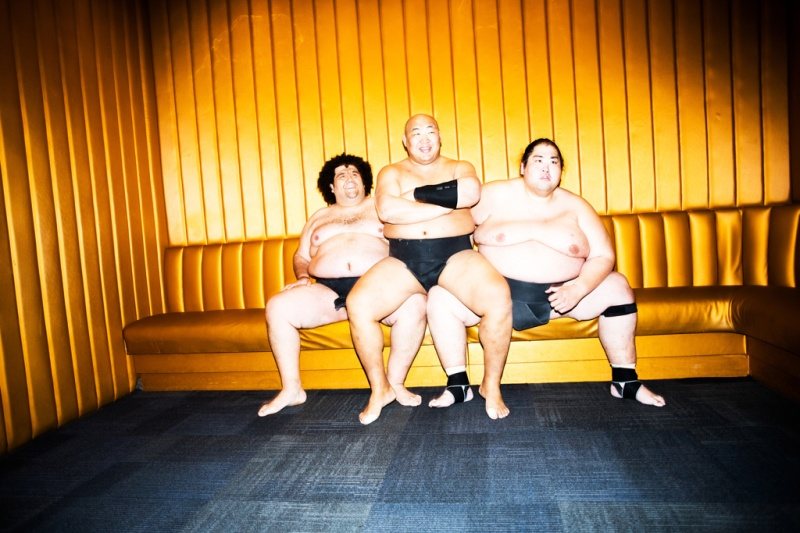 Three Sumo champions perform at Sumo + Sushi at Playstation Theatre on Broadway