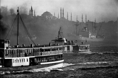 TURKEY. 1975. Boats sailing out into the Bosphorus.